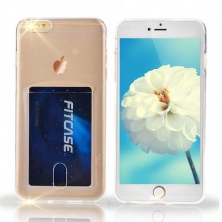DrPhone- iPhone 7+(Plus) /8+ (Plus) hoesje - TPU Ultra Kaart Dun Slim Case Transparant