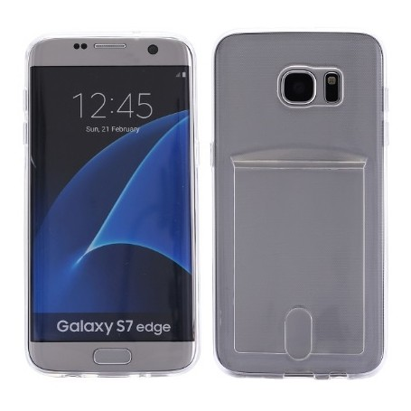 DrPhone- Samsung S7 Edge hoesje - TPU Ultra Kaart Dun Slim Case Transparant