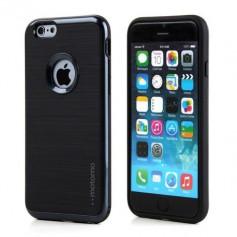 MOTOMO - iPhone 7 hoesje - 3 in 1 luxe hybrid case - TPU - slim case - design armor shockproof case - zwart + gratis