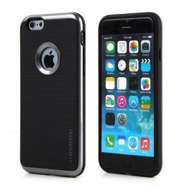 MOTOMO - iPhone 7+ Plus hoesje - 3 in 1 luxe hybrid case - TPU - slim case - design armor shockproof case - grijs +