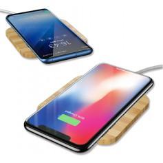 DrPhone - Draadloze Qi Lader 10W - Wireless Charger - Mobiele Telefoon Lader - Laadstation - Houten Design - Draadloos