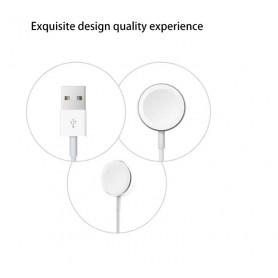 DrPhone Apple Watch Wireless Charging Pad Oplader - Magnetische Oplaadkabel / Snoer 1 m