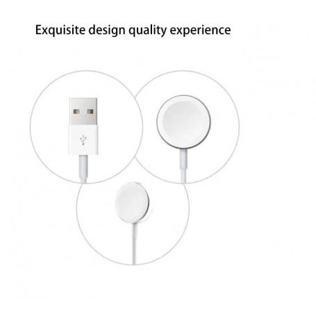 DrPhone Apple Watch Wireless Charging Pad Oplader – Charger - Magnetische Oplaadkabel / Snoer 1 meter - Draagbare