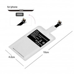 DrPhone Lightning Wireless Charging Receiver – Draadloos Oplaad Ontvanger – Plug in/uit – Werkt op alle draadloze