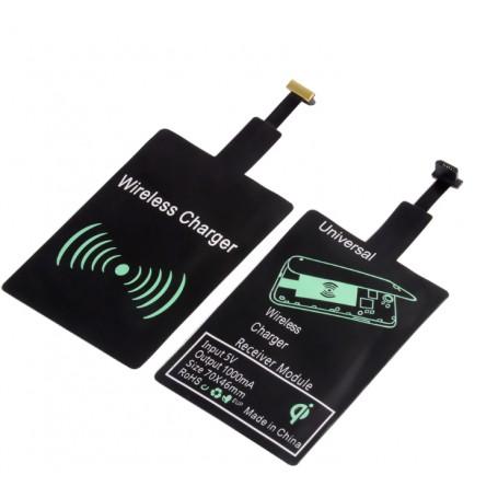 DrPhone Micro USB Wireless Charging Receiver – Draadloos Oplaad Ontvanger – Plug in/uit – Werkt op alle draadloze