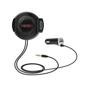 DrPhone BC 6 Pro – 3 in 1 – FM Transmitter + Telefoonhouder ventilatierooster + Snellader – Zwart