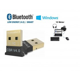 DrPhone Mini Bluetooth 4.0 USB Adapter Dongle - Ondersteunt BLE Geschikt voor o.a. Muis / Toetsenbord / Koptelefoon /