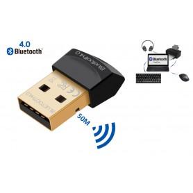 DrPhone B1 Pro - Mini Bluetooth 4.0 USB Adapter Dongle - 20 tot 50 Meter Bereik - Geschikt voor o.a. Muis / Toetsenbord etc