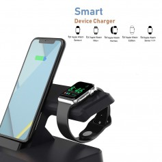 DrPhone 2-in-1 NEX - Qi Lader - Wireless Lader - Geschikt voor Apple Watch 4 / 3 / 2 / 1 - iPhone XS / XR / iPad Mini / Air 2019