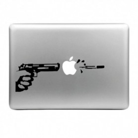 DrPhone MacBook Air / Pro / Pro Retina Skin Sticker Shoot The Apple Display, Grootte: Large