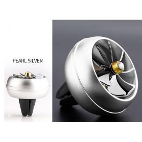 DrPhone Auto Aluminium Mini Ventilatiehouder Ventilator Luchtverfrisser Parfum in Auto - Air Conditioner met Draaiende