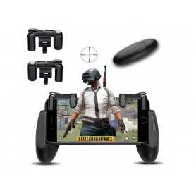 DrPhone Mobiele Game Controller - Triggers met gevoelige schiet- en aim-vuurknoppen voor o.a PUBG / Knives Out /