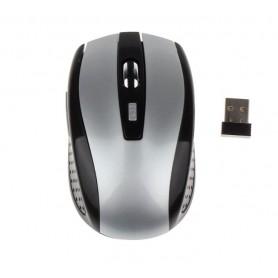 DrPhone 2.4 GHZ Draadloze Optische Gaming Muis – USB Ontvanger – 2000 DPI – Compact & Lichtgewicht – 6 Knoppen – Grijs