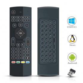 DrPhone Air Mouse Remote Afstandbediening -2.4G MX3 Pro - Mini Wireless(Draadloos) Keyboard Toetsenbord/Muis, IR