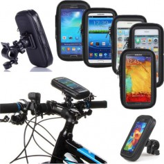 DrPhone Waterdicht Fiets/Mountainbike/Motor/Scooter Houder - Frametas - Inclusief bevestiging - 4.7 inch t/m 5.2 inch L formaat