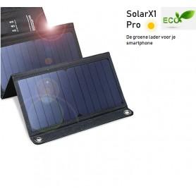 DrPhone SunPowerX1 Pro - Opvouwbare 14W Zonnecellen (4 XL panelen) - 5V 2.4A Draagbare Zonnepanelen voor Alle Smartphones