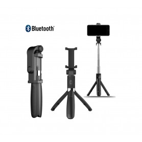 DrPhone Z2 Bluetooth draadloze Inklapbare Action Tripod Selfie Stick - Tripod Statief houder - Opvouwbaar + Bluetooth