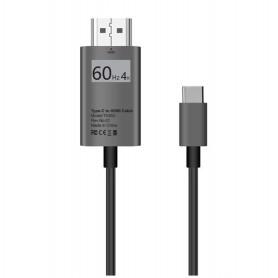DrPhone USB-C naar HDMI Adapterkabel - 4K 60Hz -1080P HD HDTV Adapter - Geschikt voor o.a MacBook Pro 2017 / Galaxy S9/ Note 9..