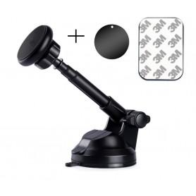 DrPhone V8 PRO Autohouder Metaal Telescopisch Verstelbaar & Uitschuifbaar Arm – Dashboard- Zuignap Windschermhouder – Zwart