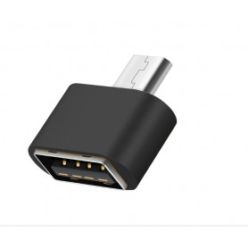 DrPhone Micro USB naar USB 2.0 Female Adapter Mini OTG Converter – Zwart