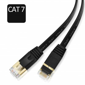 DrPhone Ethernetkabel - CAT7 RJ45 LAN - Internetkabel tot 600 MHz - Plat ontwerp - 20 Meter