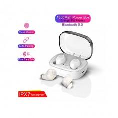 DrPhone GearX1 - Truewireless Volledig Draadloze Oordopjes - IPX7 Waterdicht - Bluetooth 5.0 - Bellen - Sport - Wit