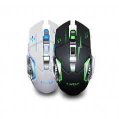 Elementkey M1 Draadloze Gaming Muis - Oplaadbare Wireless - LED - USB Optische Ergonomische - DPI Schakelaar Muis – Zwart