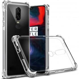 DrPhone Oneplus 6 TPU Hoesje - Siliconen Shock Bumper Case -Backcover met Verstevigde randen voor extra bescherming voor
