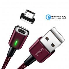 DrPhone iCON Series - Gecertificeerde Qualcomm 3.0 Support - Snellader - Magnetische MICRO USB oplaadkabel + Datakabel -