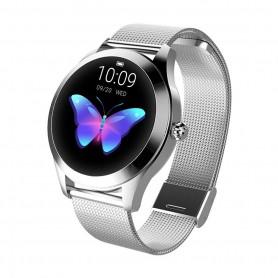 DrPhone L10 Series – Vrouwen Smartwatch + Stappenteller – Waterproof – Milanese Band – Zilver