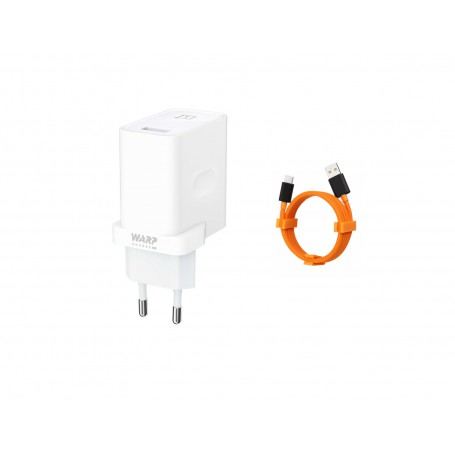 OnePlus Warp Charge Power Adapter 6A - 30W + Mclaren Oneplus Warp Charge Kabel 100cm
