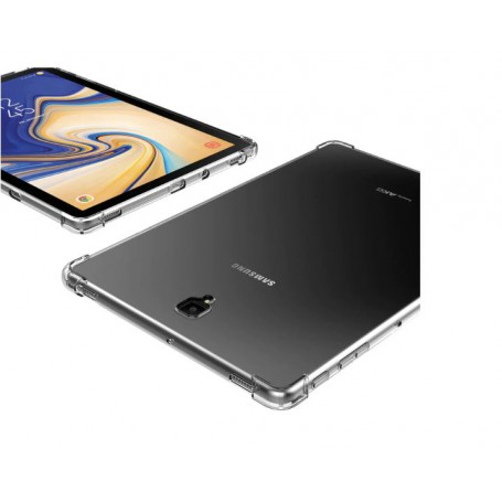 DrPhone Tab S4 10.5 2018 T830/T835 TPU Hoesje - Siliconen Bumper Case met Verstevigde randen