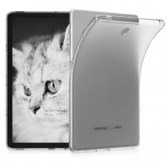 DrPhone Samsung Galaxy Tab S4 10.5 T830 TPU Hoes - Soft-Gel Case - Ultra Dunne Siliconen Case - Transparant