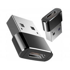 DrPhone C2 Pro - USB C naar USB 2.0 OTG - Male Adapter – Mini Hi-Speed USB C (Type-C) naar USB A Mannelijk (Type-A) – Zwart
