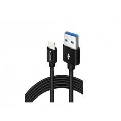 Olesit Lightning 3 Meter Fast Charge 2.4A - Oplaadkabel - Veilig laden - Data Sync & Transfer - Zwart