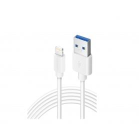 Olesit Lightning 3 Meter Fast Charge 2.4A - Oplaadkabel - Veilig laden - Data Sync & Transfer - Wit