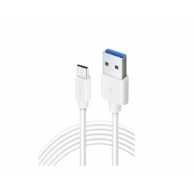 Olesit Type-C USB C 3 Meter Fast Charge 2.4A - Oplaadkabel - Veilig laden - Data Sync & Transfer - Wit