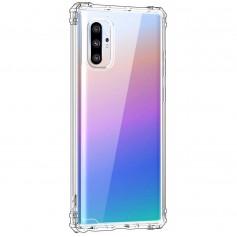 DrPhone Note10+ (Plus) TPU Hoesje - Siliconen Bumper Case met Verstevigde randen – transparant