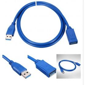DrPhone USB 3.0-verlengkabel Type A mannelijk naar vrouwelijk – 1.5M – Blauw