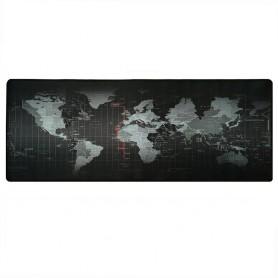 DrPhone Grote Gaming Muismat / Mat met Glad oppervlak en Gestikte randen - Antislip - Extended Game Muismat (Wereldkaart)