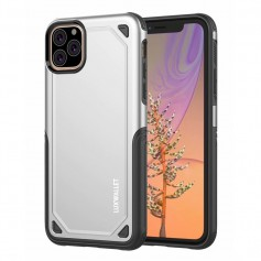 LUXWALLET® iPhone 11 PRO Case - Desert Armor Drop Proof Hoes - Metallic Silver
