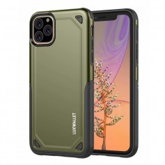 LUXWALLET® iPhone 11 PRO Case - Desert Armor Drop Proof Hoes - Army Green