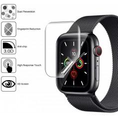 DrPhone Apple Watch 4/5 44MM TPU PET Screenprotector [Volledige dekking] HD Clear Film Screenprotector – Niet gehard Glas