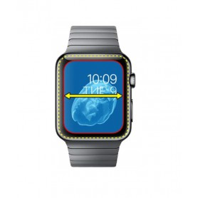 DrPhone Apple Watch 4/5 40mm Tempered Glas - 2.5D 9H - Niet volledige dekking