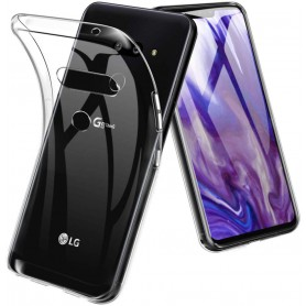 DrPhone LG G8s Thinq TPU Hoesje - Transparant Ultra Dun Premium Soft-Gel Case - Official DrPhone Product