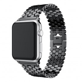 Apple Watch 1 / 2 / 3 / 4 / 38mm / 40mm / Fashion Sport Horloge Band Armband Rvs Roestvrij Staal - Inclusief Adapter -