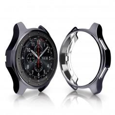 DrPhone Samsung Galaxy Watch S3 / 46mm Plating TPU Case - Ultra dunn- All-round Bumper Shell - Zwart
