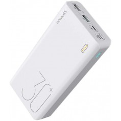 DrPhone HyperCell Pro - Draagbare 30000 mAh Snel Oplader – Powerbank – Qualcomm 3.0 - PD – Quick Charger Wit