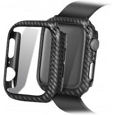 DrPhone Apple Watch 2/3 38mm Carbon Fiber Textuur Bumper Hard PC Case