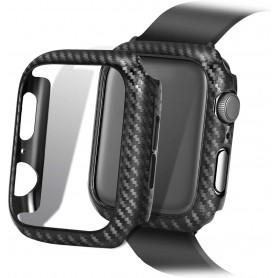 DrPhone Apple Watch 1/2/3 42mm Carbon Fiber Textuur Bumper Hard PC Case